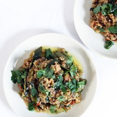 Coconut and Zucchini Rice with Walnuts and Saffron