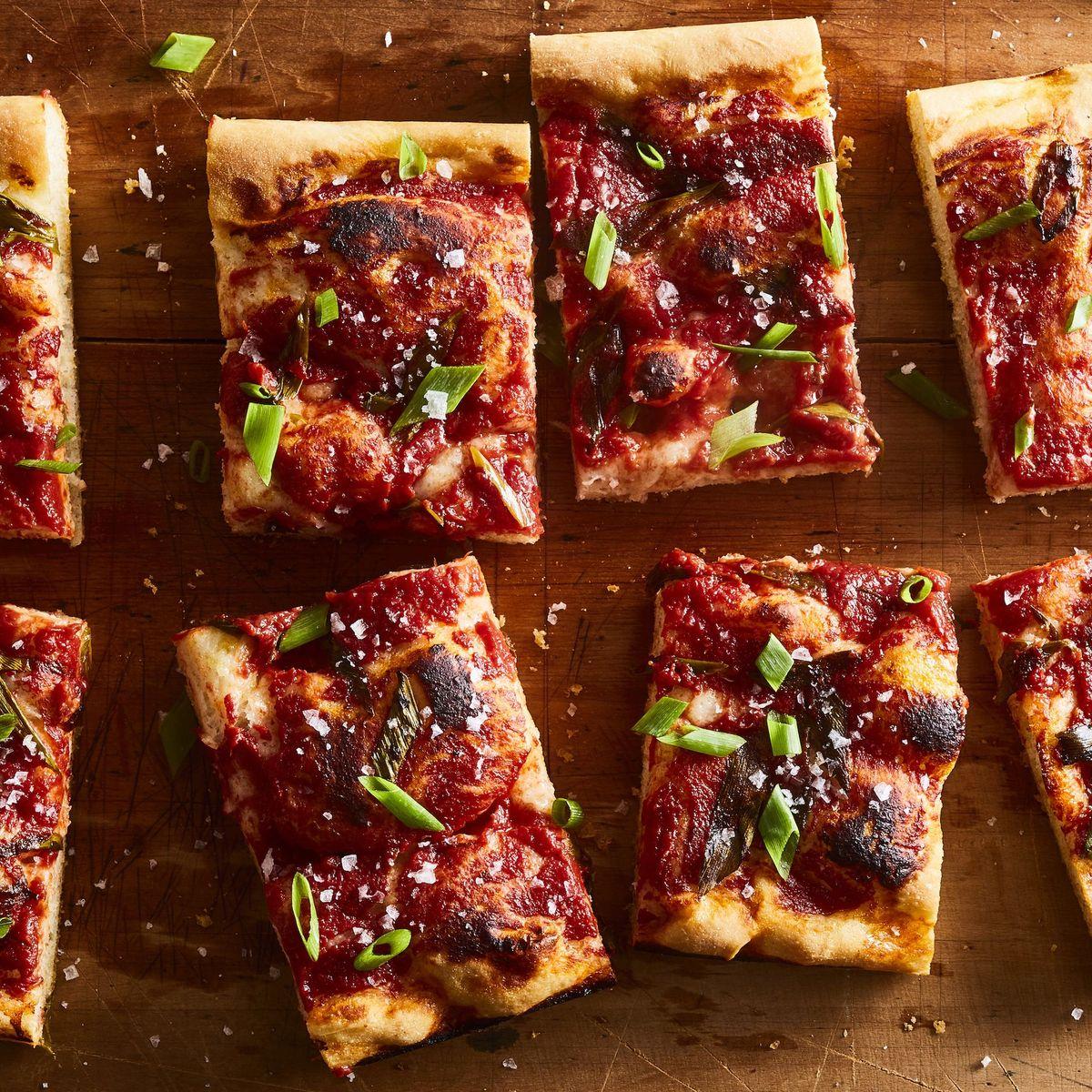 Best Focaccia Pizza Recipe How To Make Green Onion Tomato Pizza
