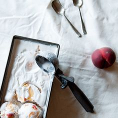Vegan Roast Peach Ice Cream