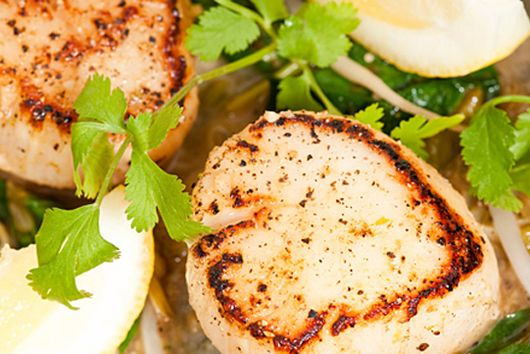 Citrus Scallops with Israel Couscous