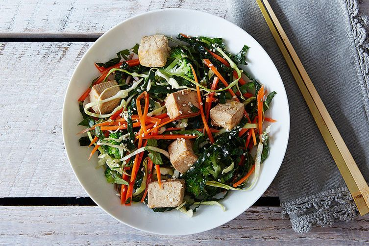 Citrus Ginger Tofu Salad with Buckwheat Noodles on Food52