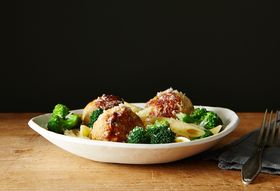 For Better Weeknight Pasta, Add Spicy Chicken Meatballs + Broccoli
