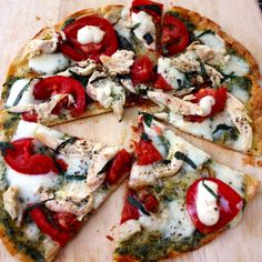 Pesto Chicken Margherita Pizza