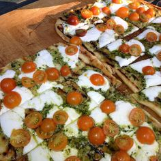Grilled Tomato Pizza