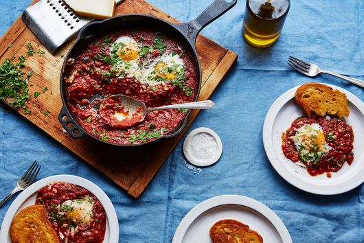 Eggs in Purgatory With Capers & Parsley