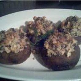 Nut stuffed mushrooms by Pete N