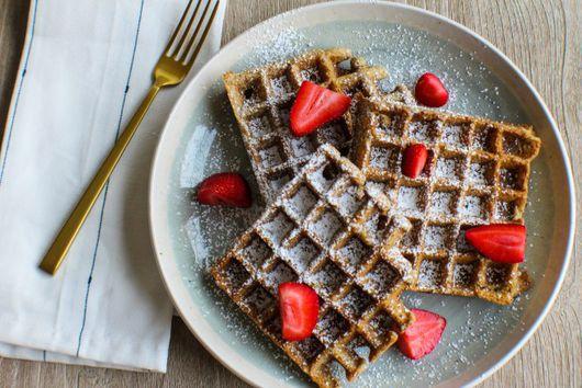 Savory Almond Flour and Flax Weekday Waffles