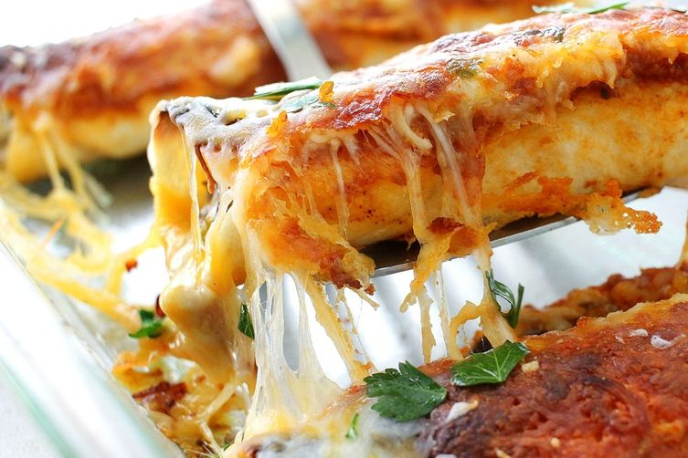 Beef Enchiladas with a Homemade Enchilada Sauce