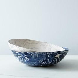 Ebru Ceramic Serving Bowl