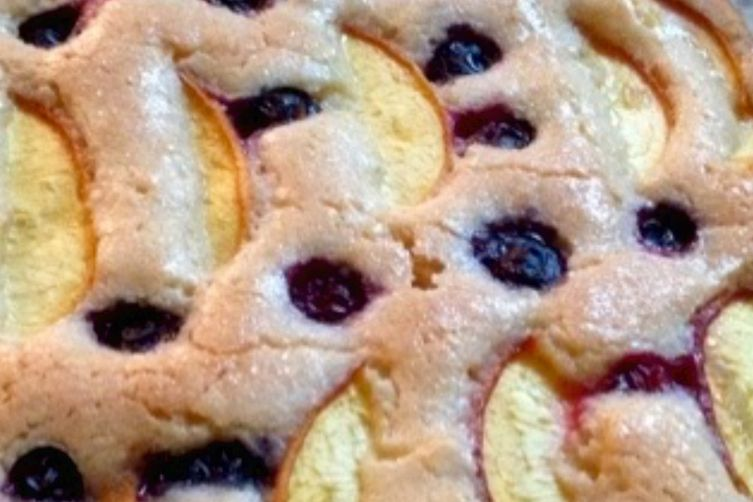 Peach Bluberry Torte
