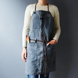 Grey Waxed Canvas Apron