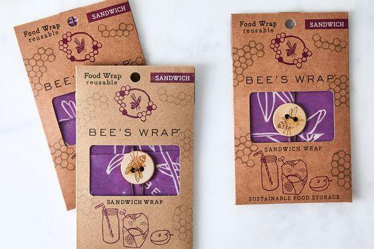 Bee's Wrap Reusable Sandwich Wrap (Set of 3)