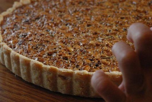 Chocolate Hazelnut Tart with Caramel and Sea Salt