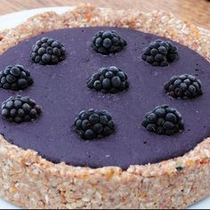 Blackberry and lavender tart.