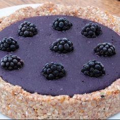 Blackberry and lavender tart.