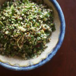 Chopped Parsley Salad with Quinoa, Comte + Pumpkin Seeds