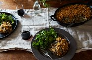 Chicken, Leek and Wild Rice Casserole
