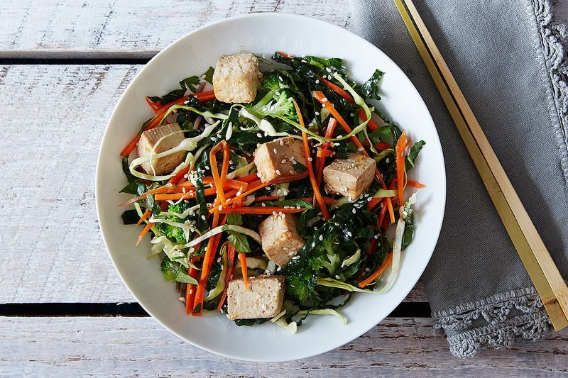 Citrus Ginger Tofu Salad with Buckwheat Soba Noodles by Poppies and ...