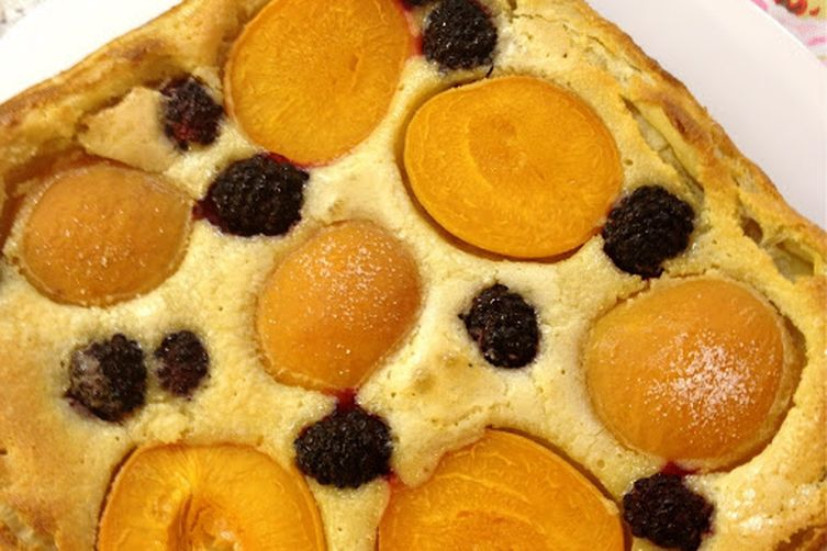 Easiest Ever Apricot Blackberry Frangipane Tart