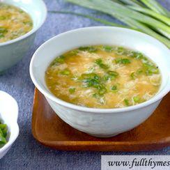 Green Egg Drop Soup