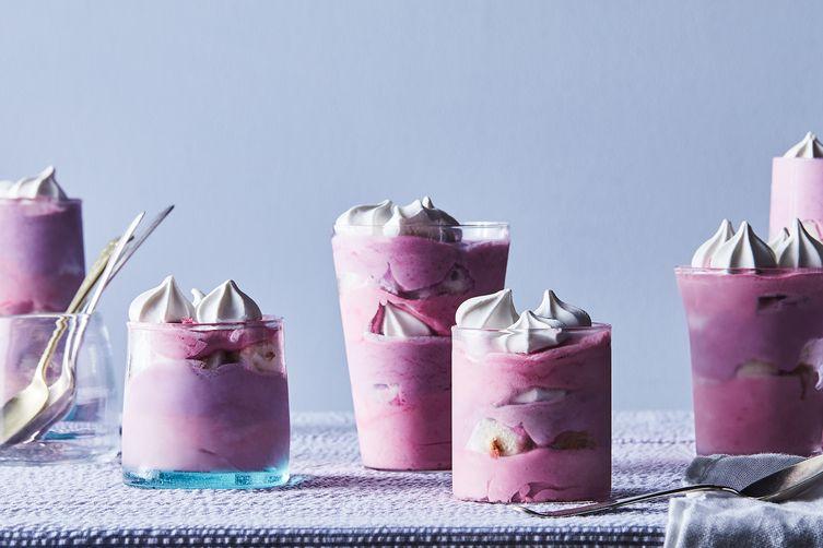 Blueberry-Blackberry Frozen Trifles
