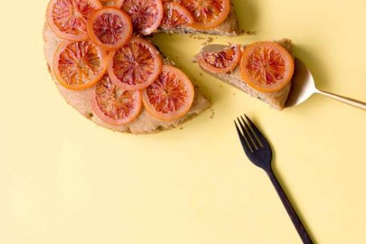 BLOOD ORANGE, PRUNE AND OLIVE OIL CAKE