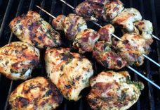 Dijon and Herb Grilled Chicken Thighs