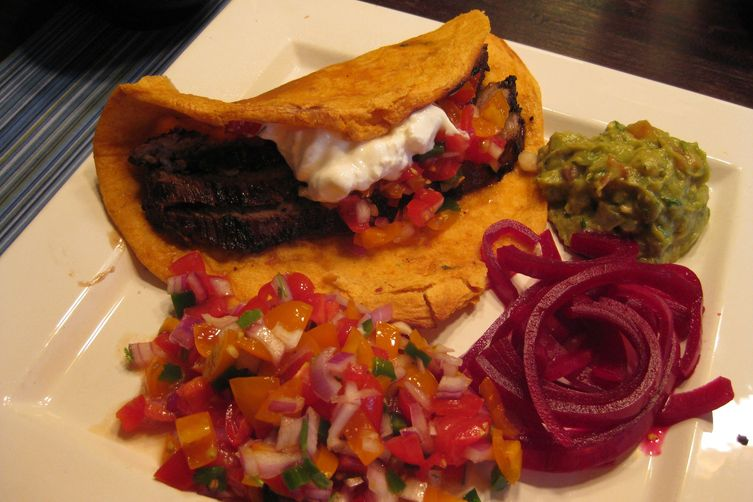 Coffee Marinated Flank Fajitas with Pico De Gallo