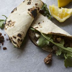 Lamb, Arugula and Feta Taco