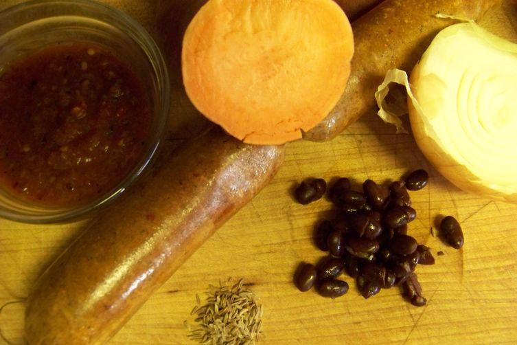 Sweet potato soup with Tuna Melts