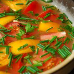 Heirlooms Tomatoes In Shrimp Gelee