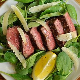 Dinner Tonight: Steak with Arugula + Greek Mahogany Potatoes