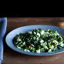 Kale, Cabbage, and Brussels Sprout Chopped Salad