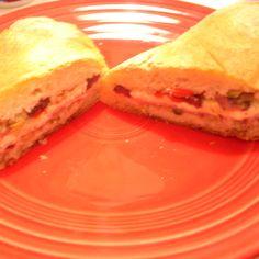 Pressed Muffuletta Sandwich