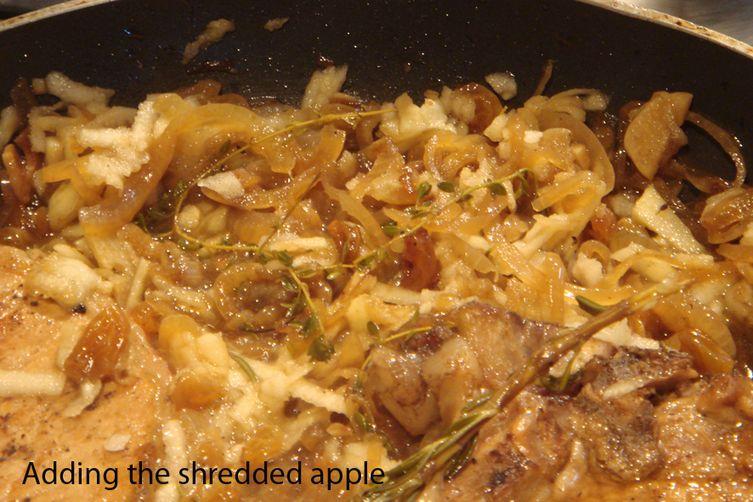 Pork Tenderloin with Apple Cider, Golden Raisins and Two Sauces