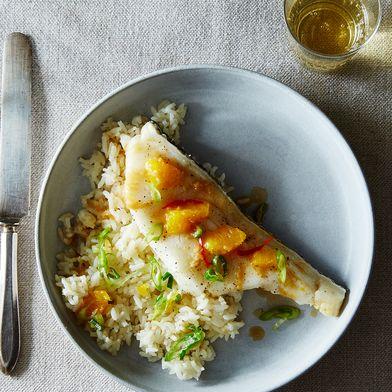Sake-Steamed Mandarin Fish