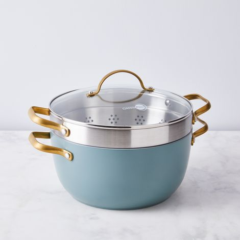 Food52 x GreenPan Nonstick Stock Pot with Steamer Insert