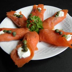 Lox, Cream Cheese and Caper Hors d'Oeuvre