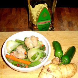Galangal Shrimp and Vegetable Stir Fry