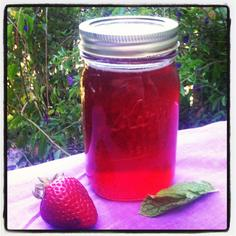 Strawberry Mint Simple Syrup