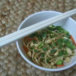 Asian noodles by Valerie Gutchen Arnade