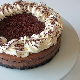 Double chocolate ice cream cake