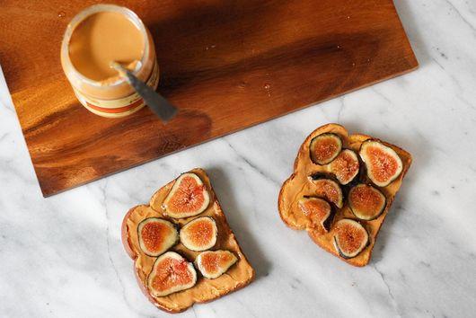 Fig, Peanut Butter, + Honey Toast
