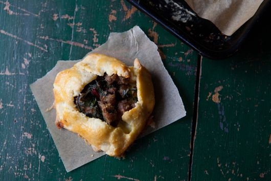 Sausage and Chard Mini Breakfast Galettes