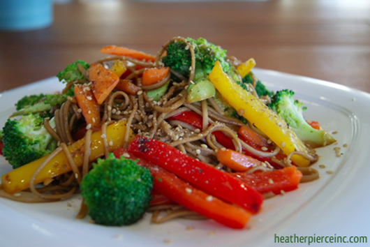 Colorful Veggie Stir Fry with Soba Noodles