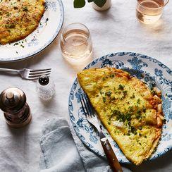 Crispy Kimchi and Cheddar Omelette