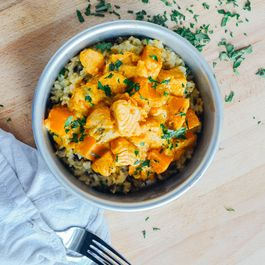 Salmon and Sweet Potato Korma