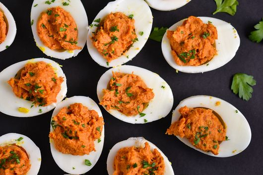 'Nduja Deviled Eggs