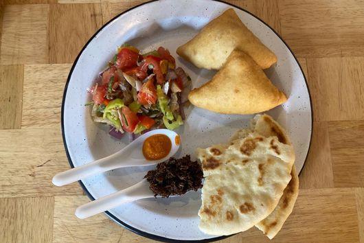 Fry Bake & Saltfish Salad