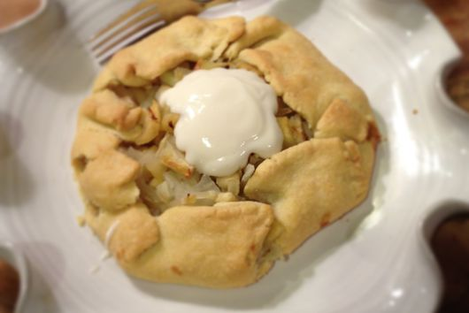 Sticky Fennel & Apple Tart with a melt in your mouth pastry crust.